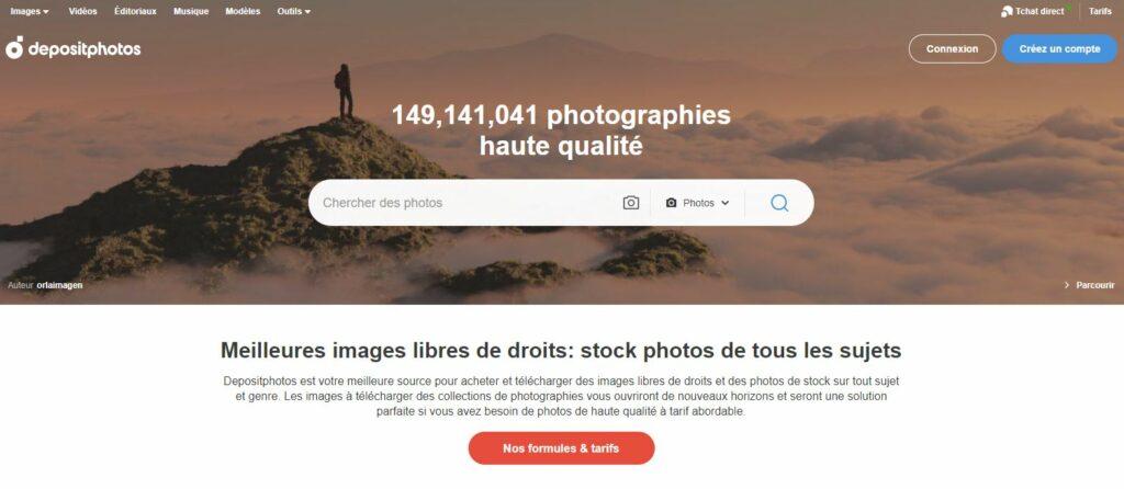 vendre ces photos site depositphotos
