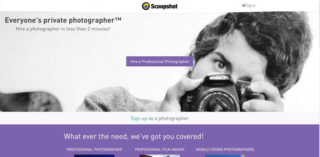 monétiser photo scoopshot