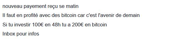 arnaque facebook investissement cryptomonnaie