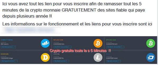 escroquerie facebook bitcoin gratuit