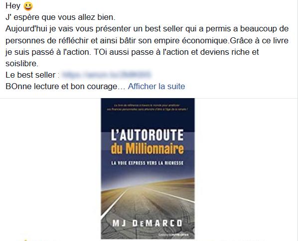 arnaque facebook gagner argent ebook