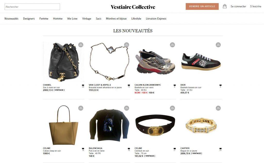 vendre vêtements site vestiaire collective