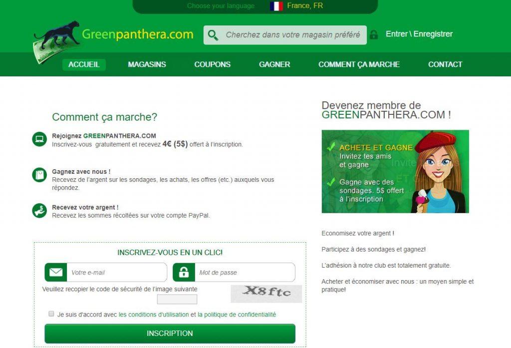 site rémunérateur greenpanthera