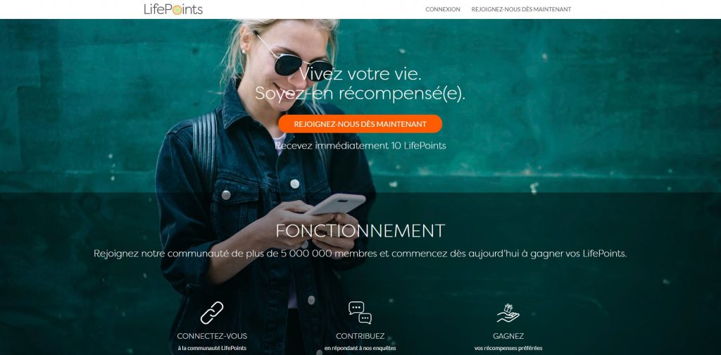 site lifepoints gagner argent paypal