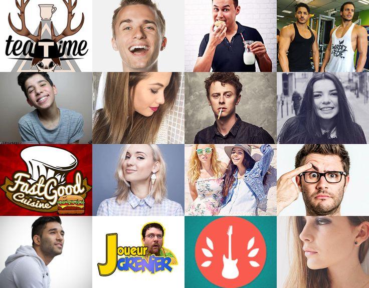 top youtuber français
