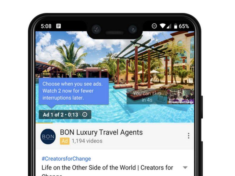 publicité youtube smartphone