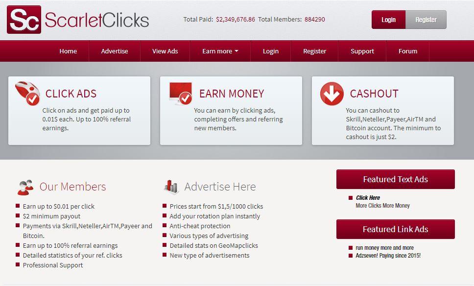 scarletclicks site rémunérateur afrique