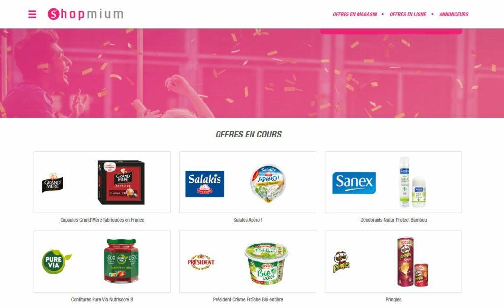 Shopmium site de cashback