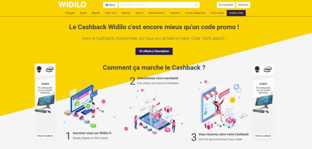 widilo cashback gagner argent shopping en ligne