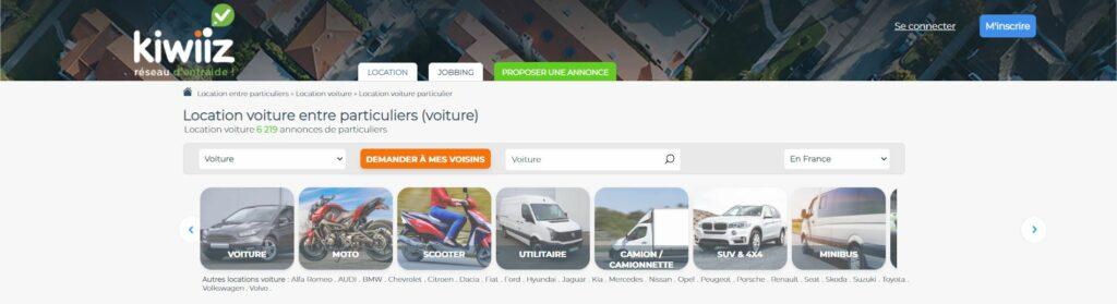 louer une voiture site kiwiiz