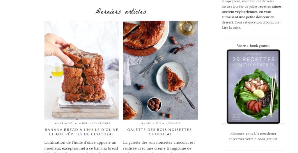 vendre ses recettes de cuisine sur son blog