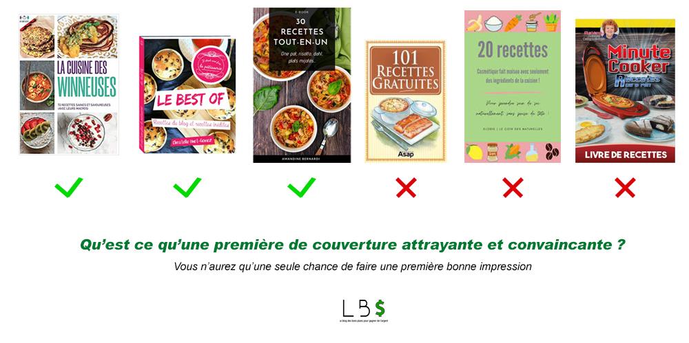 comparatif des couverture de livre de cuisine bien vendre ses recettes de cuisine