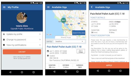 gigwalk application mobile trouver des lieux