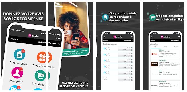 maximiles application rémunératrice applications pour gagner de l'argent smartphone