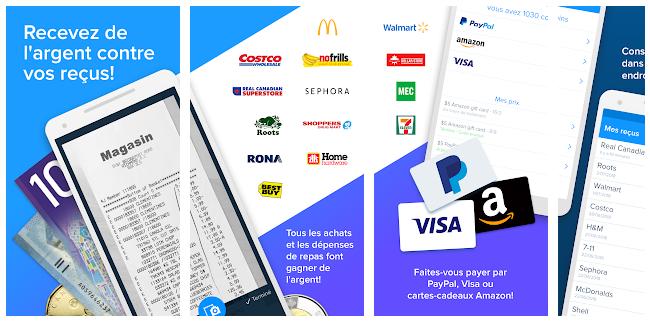 applications pour gagner de l'argent avec son smartphone receipt hog