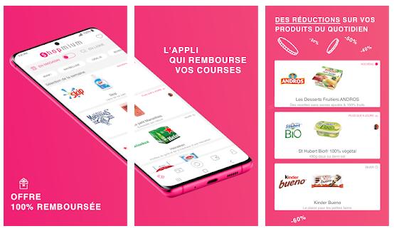 shopmium applications pour gagner de l'argent avec son smartphone faire les courses cashback