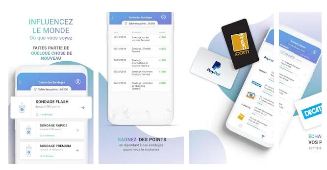 toluna sondage rémunérés applications pour gagner de l'argent avec son smartphone