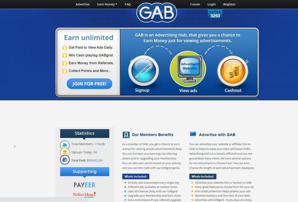 gab gagner de l'argent en ligne GPT PTC