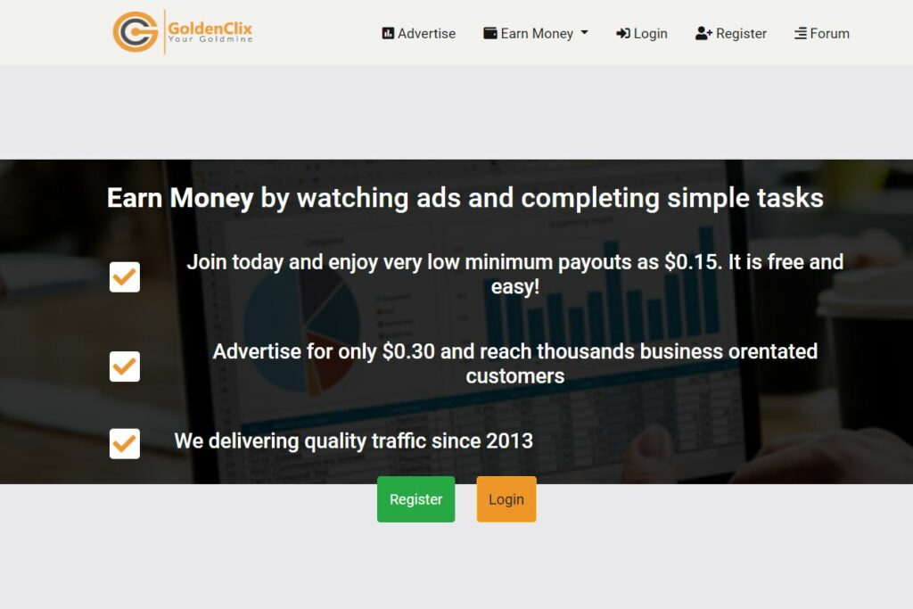 goldenclix site de paid to click et get paid to