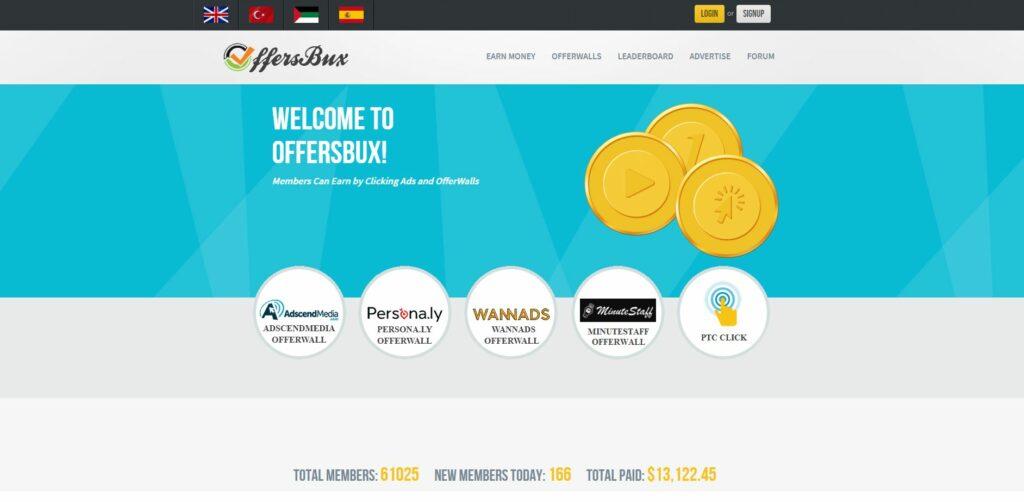 présentation site offersbux gagner de l'argent en ligne