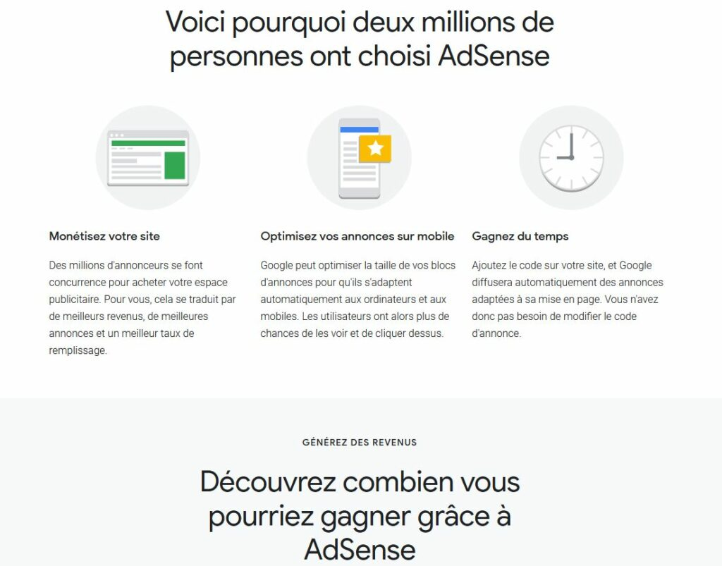 google adsense publicité monétisation