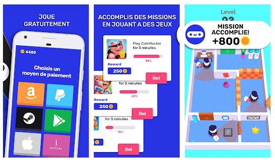 jeux pour gagner le d'argent paypal cashyy application