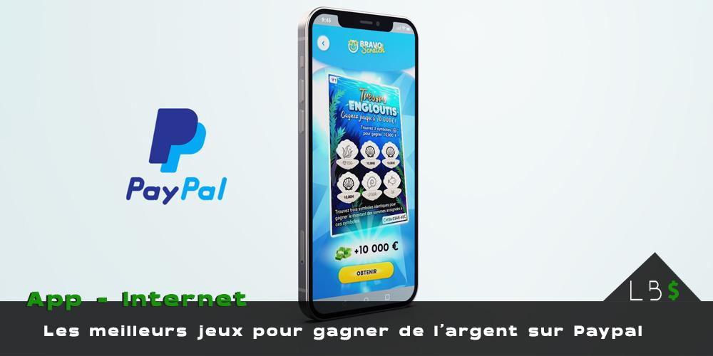 jeux gagner de l'argent Paypal applications mobiles