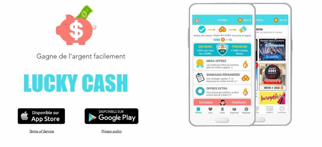 luckycash argent paypal