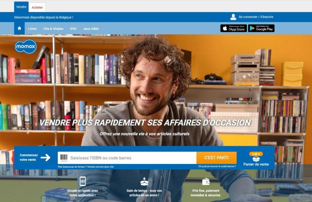 momox site pour vendre livres d'occasion
