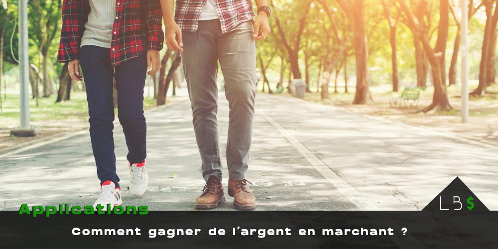 gagner de l'argent en marchant couple qui marche dans la rue